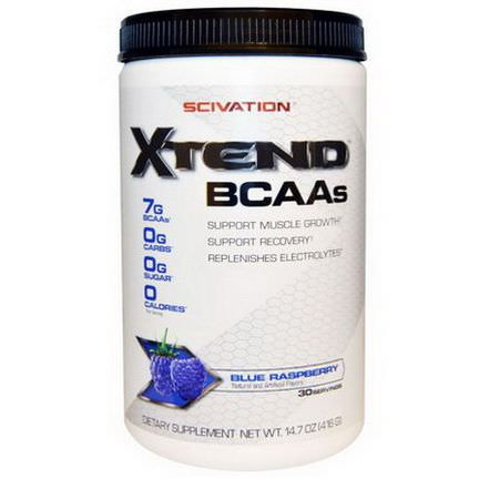 Scivation, XTend, BCAAs, Blue Raspberry 416g
