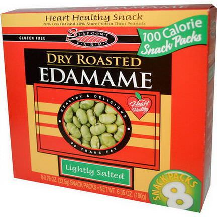 Seapoint Farms, Dry Roasted Edamame, Lightly Roasted, 8 Snack Packs 22.5g Each