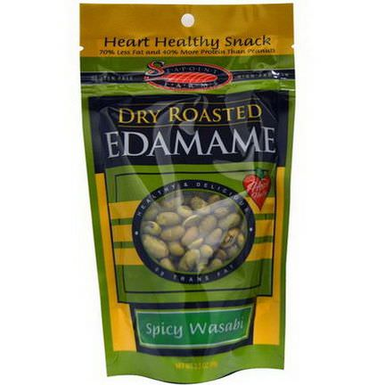 Seapoint Farms, Dry Roasted Edamame, Spicy Wasabi 99g