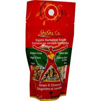 ShaSha Bread Co, Organic Buckwheat Snack, Ginger&Cinnamon, 170g