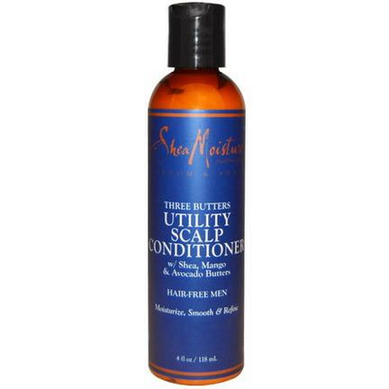 Shea Moisture, Groom&Shave, Three Butters Utility Scalp Conditioner 118ml