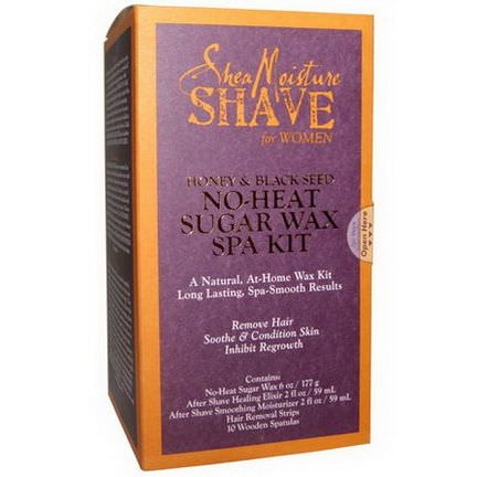Shea Moisture, Shave, No-Heat Sugar Wax Spa Kit, For Women, Honey&Black Seed, 1 Kit