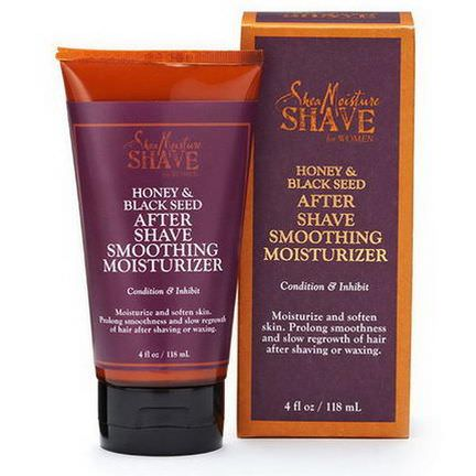 Shea Moisture, Shave for Women, After Shave Smoothing Moisturizer, Honey&Black Seed 118ml