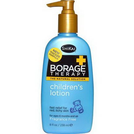 Shikai, Borage Therapy, Children's Lotion, Fragrance Free 238ml