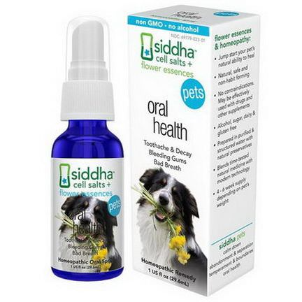Siddha Flower Essences, Pets, Oral Health 29.6ml