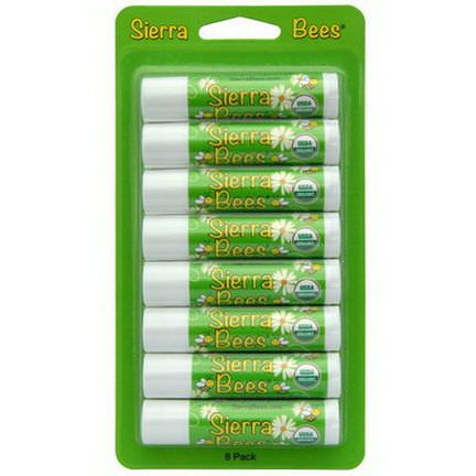 Sierra Bees, Organic Lip Balms, Mint Burst, 8 Pack 4.25g Each