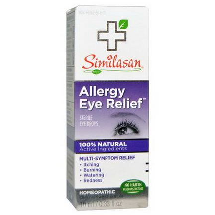 Similasan, Allergy Eye Relief, Sterile Eye Drops 10ml