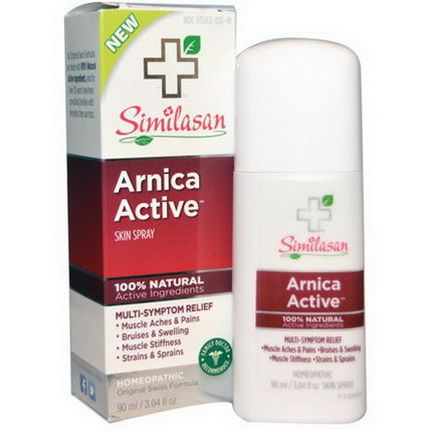 Similasan, Arnica Active Skin Spray, 3.04 fl oz 90ml