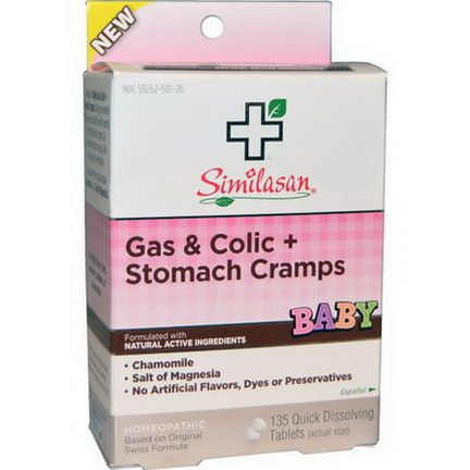 Similasan, Baby, Gas&Colic Stomach Cramps, 135 Quick Dissolving Tablets
