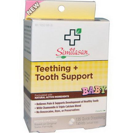 Similasan, Baby Teething Tooth Support, 135 Quick Dissolving Tablets