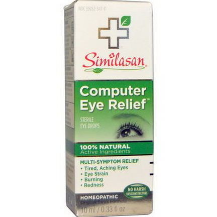 Similasan, Computer Eye Relief, Sterile Eye Drops 10ml