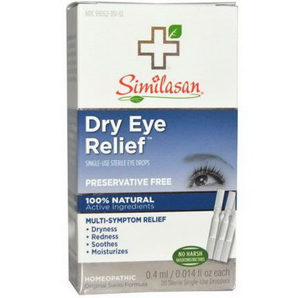 Similasan, Dry Eye Relief, Single-Use Sterile Eye Drops 0.4ml Each