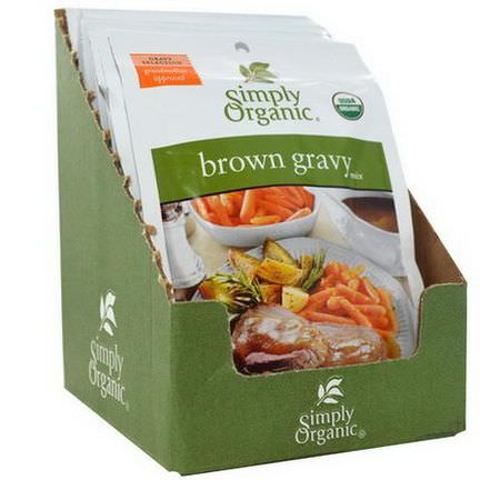 Simply Organic, Brown Gravy Mix, 12 Packets 28g Each
