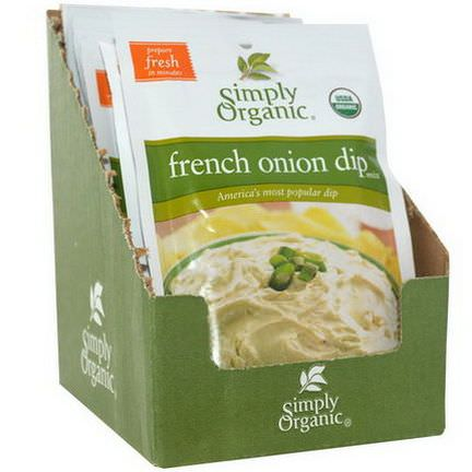 Simply Organic, French Onion Dip Mix, 12 Packets 31g Each