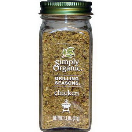 Simply Organic, Grilling Seasons, Chicken, Organic 31g