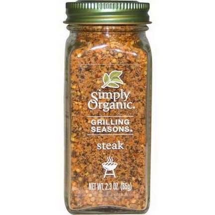 Simply Organic, Grilling Seasons, Steak, Organic 65g