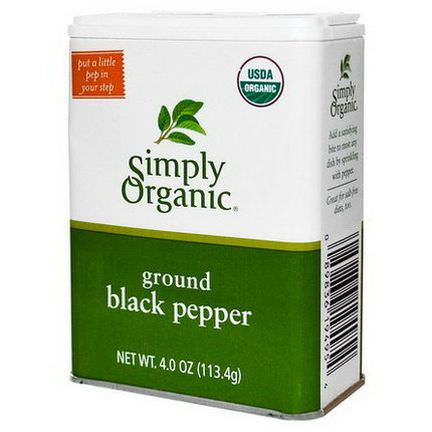 Simply Organic, Ground Black Pepper 113.4g