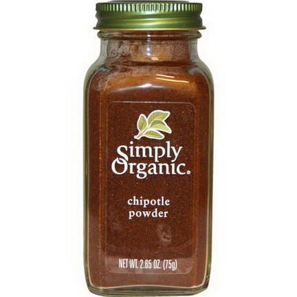 Simply Organic, Organic Chipotle Powder 75g