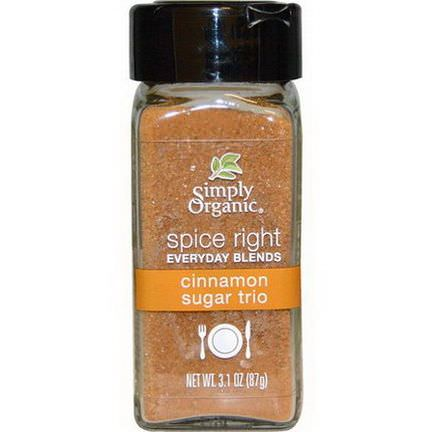 Simply Organic, Organic Spice Right Everyday Blends, Cinnamon Sugar Trio 87g