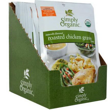 Simply Organic, Roasted Chicken Gravy Mix, 12 Packets 24g Each