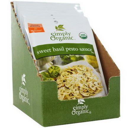 Simply Organic, Sweet Basil Pesto Sauce Mix, 12 Packets 15g Each