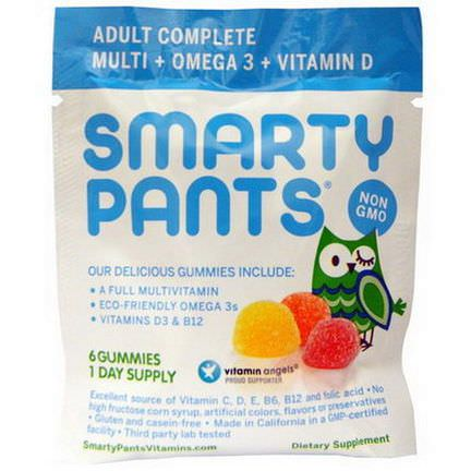 SmartyPants, Adult Complete, All-In-One Gummy Goodness, 15 Packs, 6 Gummies Per Pack