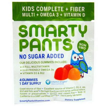 SmartyPants, Kids Complete Fiber, 15 Packs, 4 Gummies Per Pack