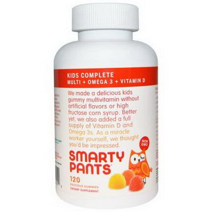 SmartyPants, Kids Complete Multi Omega 3 Vitamin D, 120 Delicious Gummies
