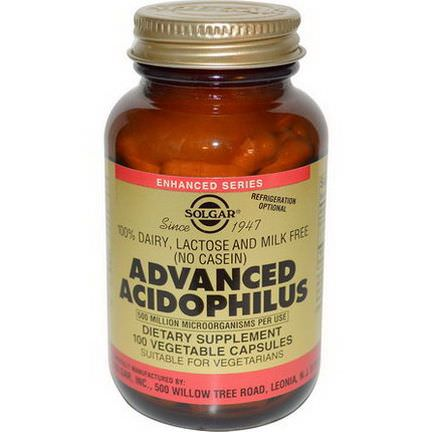 Solgar, Advanced Acidophilus, 100 Veggie Caps