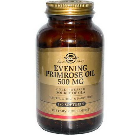 Solgar, Evening Primrose Oil, 500mg, 180 Softgels