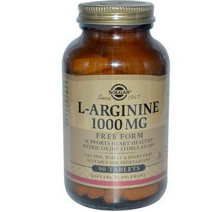 Solgar, L-Arginine, 1000mg, 90 Tablets