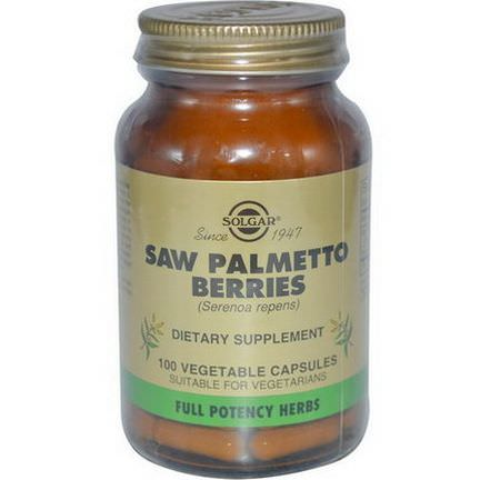 Solgar, Saw Palmetto Berries, 100 Veggie Caps