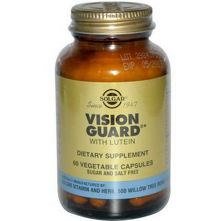 Solgar, Vision Guard with Lutein, 60 Veggie Caps