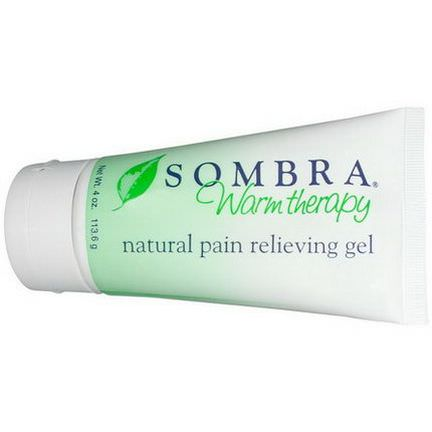 Sombra Professional Therapy, Warm Therapy, Natural Pain Relieving Gel, with Easy Pop Open Lid 113.6g