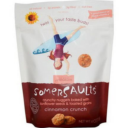 Somersaults, Sunflower Seed Snack, Cinnamon Crunch 170g