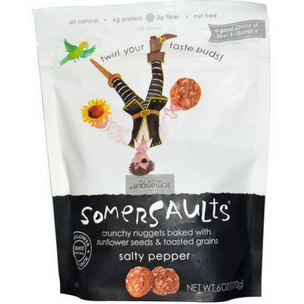 Somersaults, Sunflower Seed Snack, Salty Pepper 170g