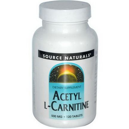 Source Naturals, Acetyl L-Carnitine, 500mg, 120 Tablets