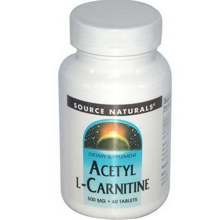 Source Naturals, Acetyl L-Carnitine, 500mg, 60 Tablets