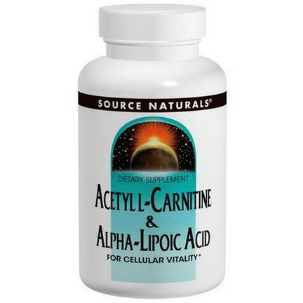 Source Naturals, Acetyl L-Carnitine&Alpha Lipoic Acid, 650mg, 60 Tablets
