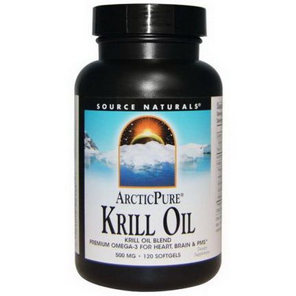 Source Naturals, Arctic Pure, Krill Oil, 500mg, 120 Softgels
