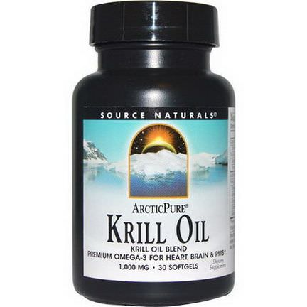 Source Naturals, ArcticPure, Krill Oil, 1,000mg, 30 Softgels