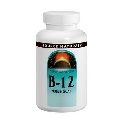 Source Naturals, B-12, Sublingual, 2,000mcg, 100 Tablets