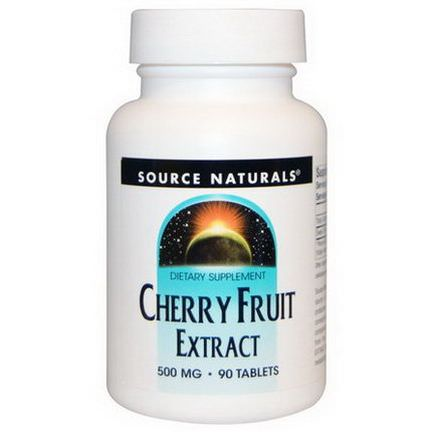 Source Naturals, Cherry Fruit Extract, 500mg, 90 Tablets