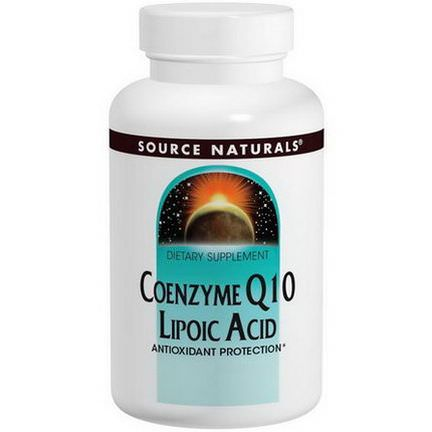 Source Naturals, Coenzyme Q10, Lipoic Acid, 30mg / 30mg, 60 Capsules