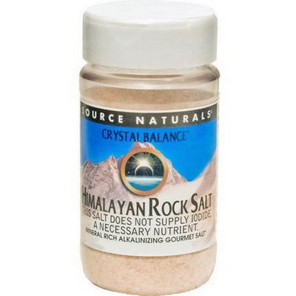 Source Naturals, Crystal Balance, Himalayan Rock Salt, Fine Grind 340g