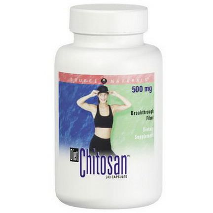 Source Naturals, Diet Chitosan, 500mg, 240 Capsules