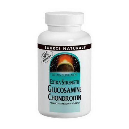 Source Naturals, Extra Strength, Glucosamine Chondroitin, 120 Tablets