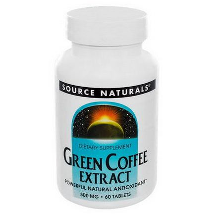 Source Naturals, Green Coffee Extract, 500mg, 60 Tablets