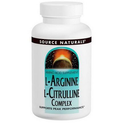 Source Naturals, L-Arginine L-Citrulline Complex, 1,000mg, 120 Tablets