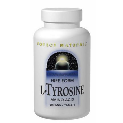 Source Naturals, L-Tyrosine, 500mg, 100 Tablets